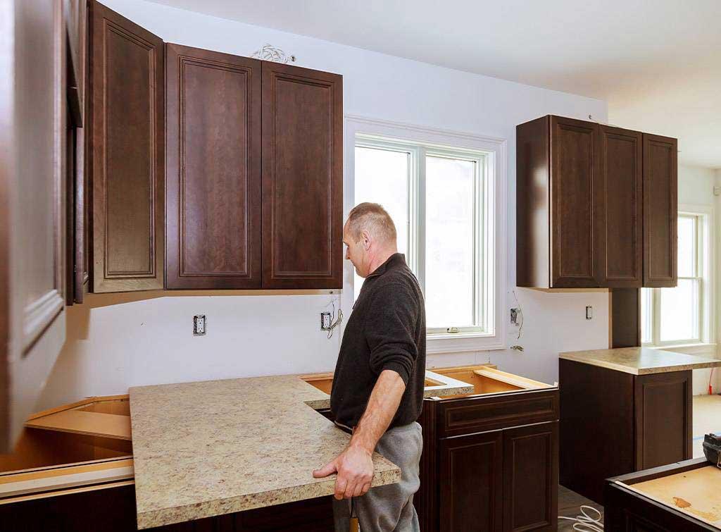 large kitchen refurbishment