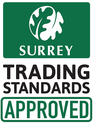 Approved by Surrey County Council Trading Standards
